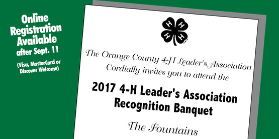 2017 Orange County 4-H Leader's Association Recognition Banquet
