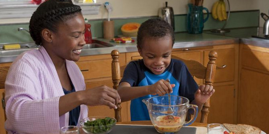 Children will often eat new foods that they help you prepare!
