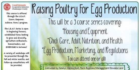 LEAF 2017-2018 Raising Poultry for Egg Production
