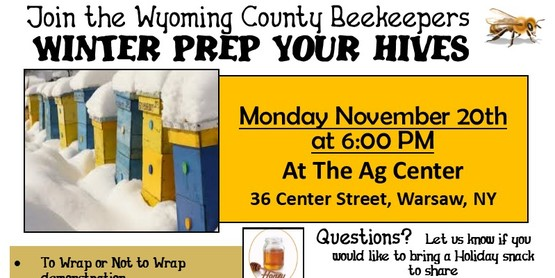 Wyoming County Beekeepers - Winter Prep Your Hives