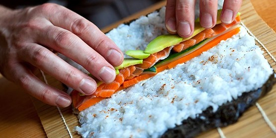 Learn how to roll sushi like a pro! Ingredients and methods for vegetarian sushi provided.