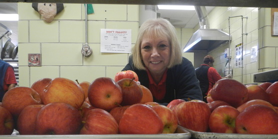 Farm to school month 2017 apples
