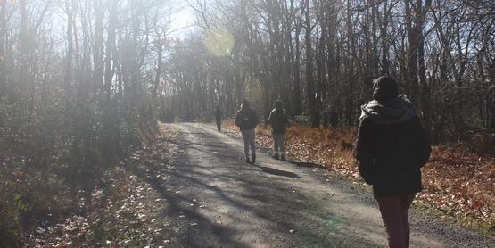 Hiking at Sam's Point