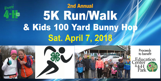 5K Run-Walk & Kids 100 Yard Bunny Hop 2018
