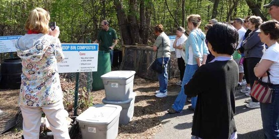group composting demonstration, from FACEBOOK page dated April 21, 2012