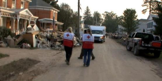 Emergency personnel in Schoharie County following Hurricane Irene (2011)