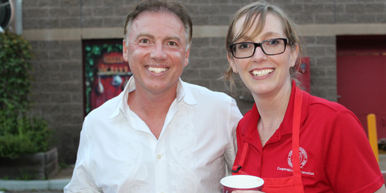 SC Legislator Alan Sorensen and CCE Executive Director Colleen Monaghan at 2017 BBQ.