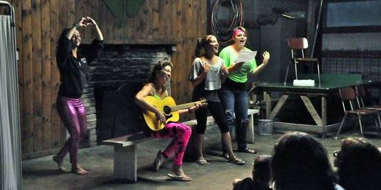 Campers in evening performances at 4-H Camp Overlook