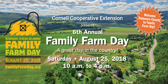 Schoharie County Farms participating in Family Farm Day 2018!