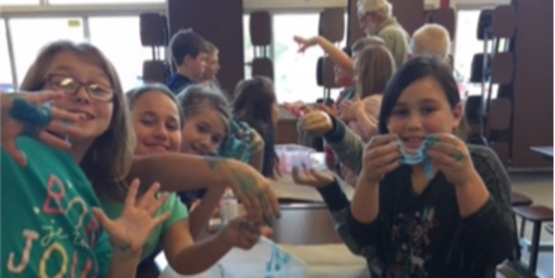 LaFargeville Afterschool students learn how to make slime!
