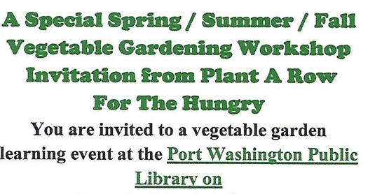 Vegetable Gardening Workshop