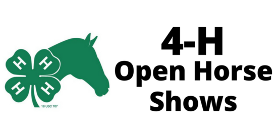 4-H Horse Program Open Horse Shows