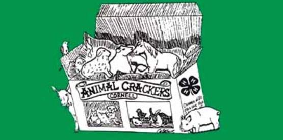 Logo for Animal Crackers 4-H program from the Cornell University 4-H Brochure (2013)