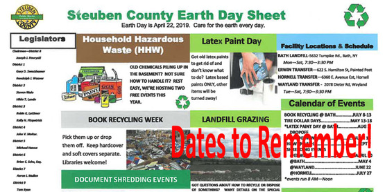 Earth Day dates for Steuben County