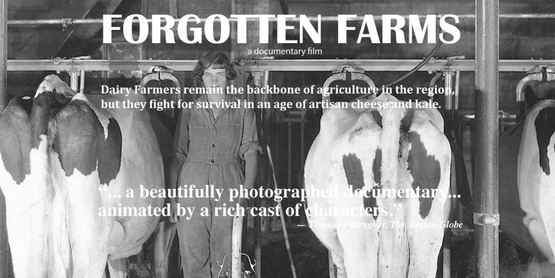 Woman and dairy, black and white image, Forgotten Farms