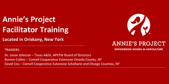 New York Annie's Project Traing