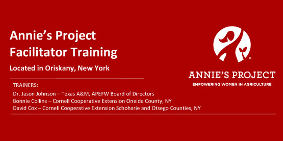 New York Annie's Project Facilitator Training