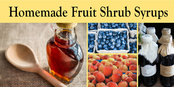Homemade Fruit Shrub Syrups