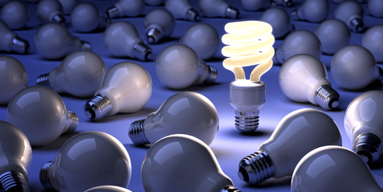 Save electricity by switching to compact fluorescent bulbs.