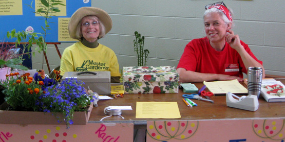 Master Gardener volunteers at the 2012 Spring Garden Fair & Plant Sale