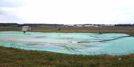 Manure cover on New York dairy farm, photo courtesy of Fessenden Dairy