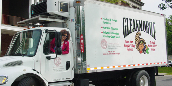 The GleanMobile, our refrigerated box truck, is used to deliver  fresh, nutritious food.