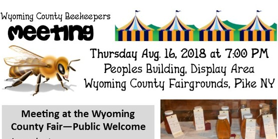 Wyoming County Beekeepers Meeting at the Fair