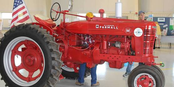 Town of Canandaigua highway garage tractor