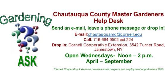 CCE Master Gardener Helpline