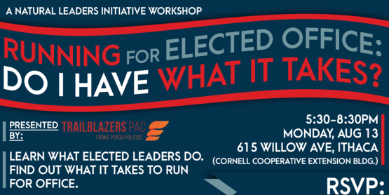 Elected Office event flyer