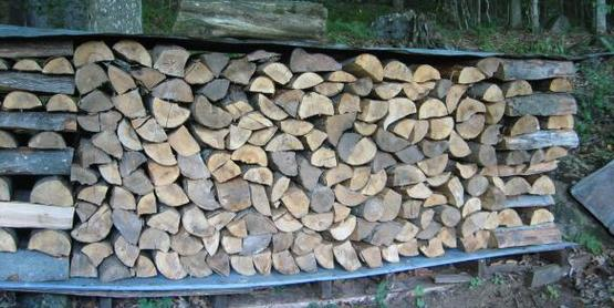 Keep your woodpile covered and allow air to circulate through it for optimal drying.