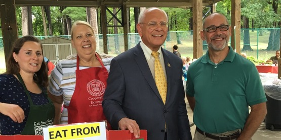 Congressman Paul Tonko at Senior Picnic 2017 with CCE staff