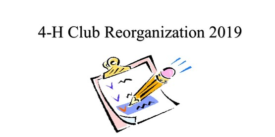 4-H Club Reorganization - Schoharie