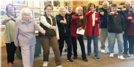 Tai Chi for Arthritis group at CCE Sullivan County 2017