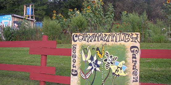 Groton Community Garden - the site of a community compost site in Groton, NY