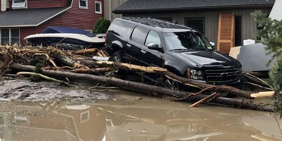 Flooding in Lodi, NY