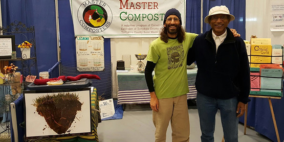 Adam Michaelides at Compost Booth at Home Builders show