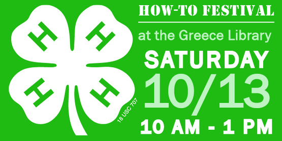 Join us at the Greece Library for the HOW-TO FESTIVAL!