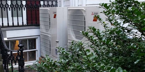 Air-source heat pumps can provide heating and cooling superefficiently to your building.