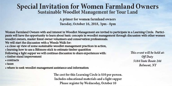 Women for the Land Conservation Learning Circle - Woodlot Management