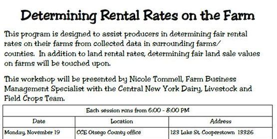 Determining Rental Rates