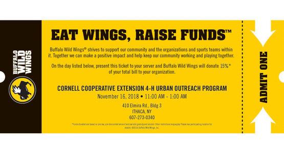 Ticket for Urban Outreach Buffalo Wild WIngs Fundraiser