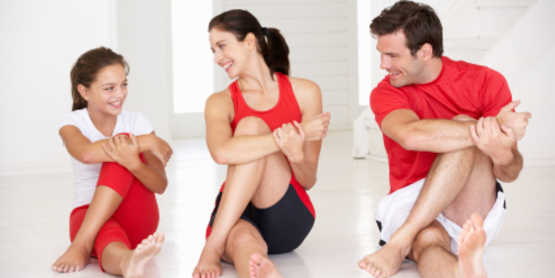 Exercising as a family helps build strength in relationships.