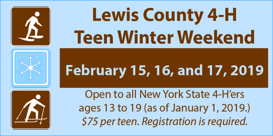 LEWIS COUNTY 4-H TEEN WINTER WEEKEND