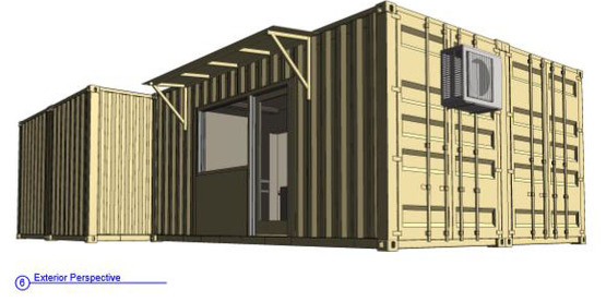 drawing of storage unit from construction bidset