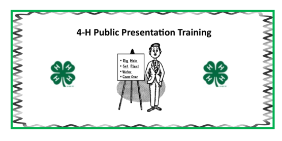 4-H Public Presentation Training
