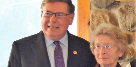 Senator Seward and life-long 4-H Alumna Shirley Keene