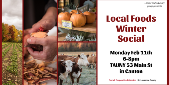 Banner for local foods winter social