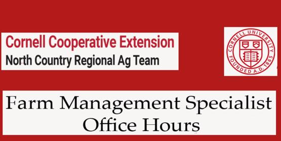 Farm Management Specialist Office Hours