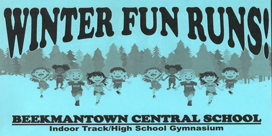 Winter Fun Runs! Beekmantown Central School indoor track/highschool gymnasium
